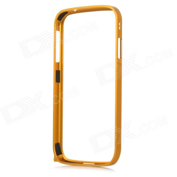 S4-Q Protective Aluminum Alloy Bumper Frame for Samsung Galaxy S4 i9500 - Golden stylish aluminum alloy protective bumper frame set for iphone 4 4s black red