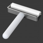 Handy Silicone + Stainless Steel Screen Film / Guard / Protector Roller for Cell Phones - White