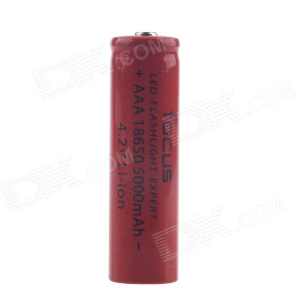 Focus 4.2V 800mAh Rechargeable Lithium Ion 18650 Battery - Red 2pcs 3 7v icr 17500 16500 rechargeable lithium ion battery cell 1200mah for led flashlight torch and speaker