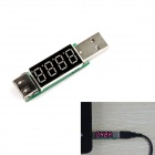 DC62 LED Display USB Power Charger Data Transmit Current Voltage Tester - White