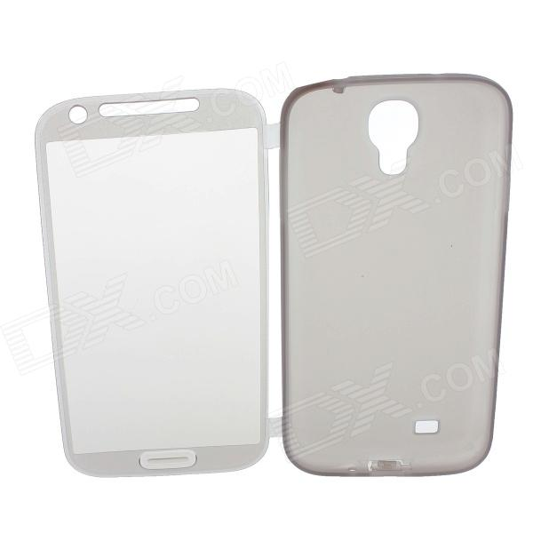 MZ Protective Silicone Case Cover for Samsung Galaxy S4 GT-i9500 - Translucent Grey protective silicone case for nds lite translucent white