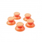 008 MGT Colorful PS4 Gamepad 3D Mushroom Rocker Cap - Orange (5 PCS)