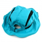 Liberamente pieghevole cappello a tesa larga per le donne - Light Blue