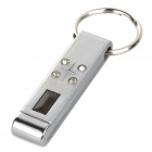 0464-2 Car Static Discharger Keychain - Silver