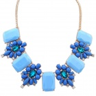 FENLU Fashionable Rhinestone Women's Necklace - Multicolored