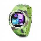 "TW320 Waterproof GSM Wrist Watch Phone w/ 1.5"" / TF / Bluetooth - Camouflage Green"