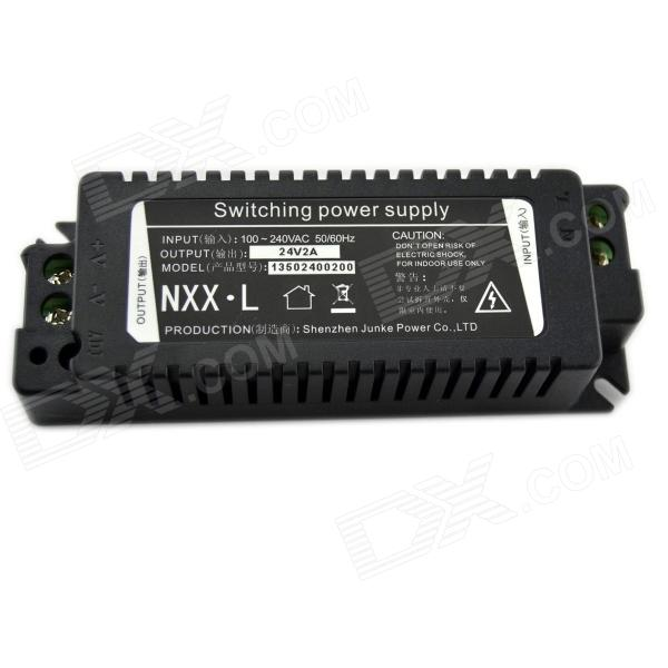 48W 24V 2A Switching Power Supply - Black (AC 100~240V) 20v 1 2a power module 220v to 20v acdc direct switching power supply isolation can be customized