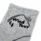 Wind Tour WT90301 Men's Cotton + Polyester Fiber Breathable Quick-Dry Sports Socks - Grey