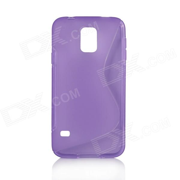 S Style Protective TPU Back Case for Samsung Galaxy S5 - Purple protective pc tpu back case for iphone 5 w anti dust cover lavender purple