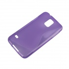 """S"" Style Protective TPU Back Case for Samsung Galaxy S5 - Purple"
