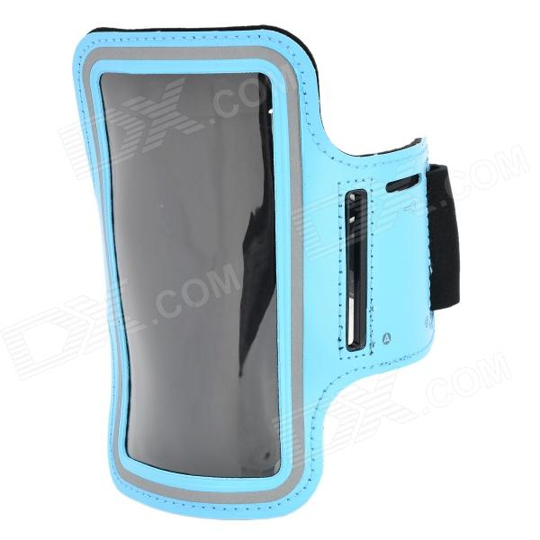 Sports Gym Arm Band Case Cover for Samsung Galaxy S5 - Light Blue sunshine sports velcro protective arm bag for samsung galaxy s5 i9600 red black