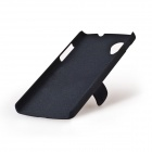 Quicksand Protective PC + Rubber Back Case for Google Nexus5 w/ Fashion Mini Removable Stand - Black