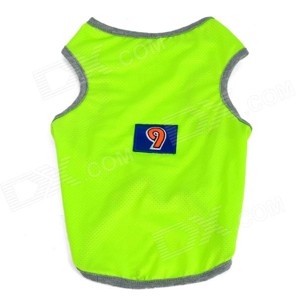 Doglemi DM3007 Breathable Fluorescent Mesh Dog Vest for Teddy / Poodle - Fluorescent Yellow (Size L)