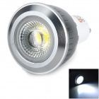 Lexing LX-COB-11 GU10 5~6W 430lm 7000K White Light COB Spotlight - White + Black (AC 85~265V)