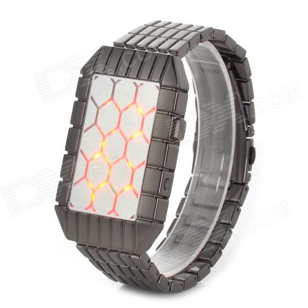 Shifenmei 1153 Men's Novel Concept Digital LED Wristwatch - Black (1 x CR2032)