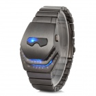 Shifenmei 1158 Men's Snakelike Zinc Alloy Digital LED Wristwatch - Blackish Grey (1 x CR2032)