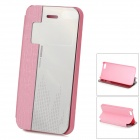 HELLO DEERE Protective PU + Acrylic Case w/ Stand / Auto-Sleep for IPHONE 5 / 5S - Pink