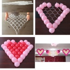 Holiday Party Heart Shaped Grid Decoration for Balloon - Translucent White