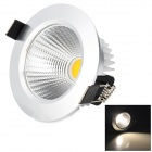 HUGEWIN HTD753 3W 240lm 3500K COB LED Warm White Ceiling Light - Silver (AC 85~265V)