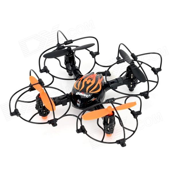 Udi U830 Wireless 2.4GHz 4-Axis 4-Channel R/C Aircraft w/ Gravity Sensor - Black + Orange
