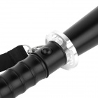 OUMILY Telescopic Tactical LED 290lm 3-Mode High Light Flashlight - Black + Silver (1 x 18650)