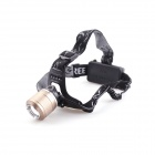 YP-3918 Outdoor 2 x Cree XM-L T6 200lm 3-Mode White Headlamp - Black + Golden (2 x 18650)