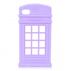 HELLO DEERE Telephone Booth Shaped Protective Silicone Case for IPHONE 4 / 4S - Light Purple