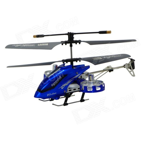 Brilink BH12 Rechargeable 4-CH IR Remote Control R/C Helicopter w/ Gyro - Blue