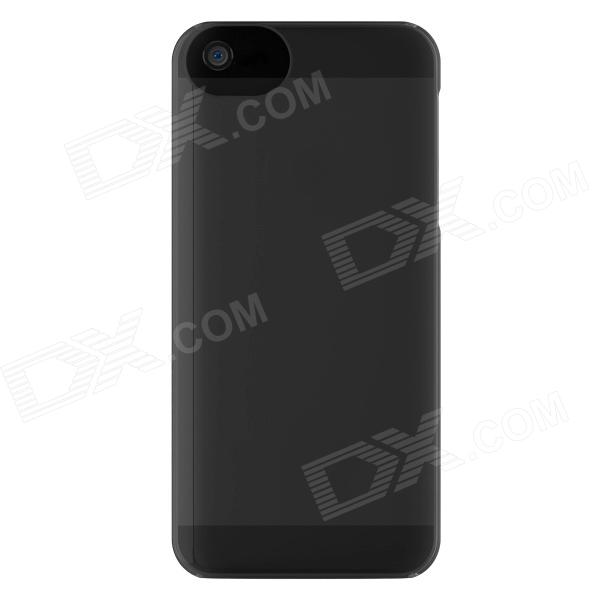 ADOPTED Protective Plastic Case for IPHONE 5 - Translucent Black protective silicone case for nds lite translucent white