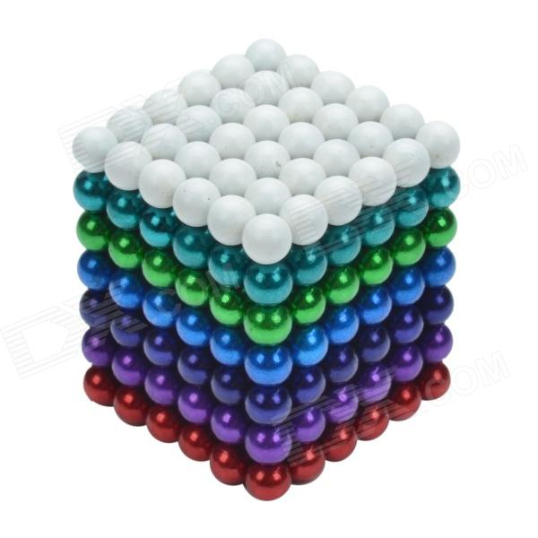 CHEERLINK 5mm DIY Magnet Balls / Neodymium Iron Educational Toys Set - Multicolored (252 PCS) cheerlink xb 01 3mm diy magnet balls neodymium iron educational toys set silver white 432 pcs