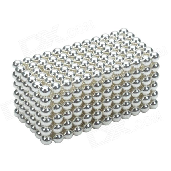CHEERLINK XB-01 3mm DIY Magnet Balls/ Neodymium Iron Educational Toys Set - Silver + White (432 PCS) cheerlink xb 01 3mm diy magnet balls neodymium iron educational toys set silver white 432 pcs