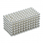 CHEERLINK XB-01 3mm DIY Magnet Balls/ Neodymium Iron Educational Toys Set - Silver + White (432 PCS)