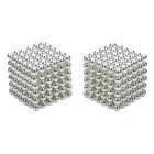 CHEERLINK 3mm Magnet Ball Educational Toy Set - Silver White (432 PCS)