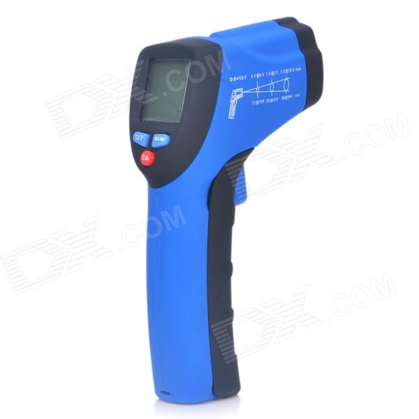 IR-801 1.2 LED Mini Wireless Handheld Infrared Laser Thermometer - Black + Blue (1 x 9V) portable backpack carry bag hm the device is placed knapsack for fpv mini drones qav250 zmr250 q280 race quadcopter
