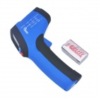 "IR-801 1.2"" LED Mini Wireless Handheld Infrared Laser Thermometer - Black + Blue (1 x 9V)"