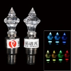 TOP-FLIGHT DIY 7-Color Motorcycle / Bike Cranked Tire Valve Light - Transparent + Silver (3 x AG10)