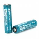 OLIGHT 14500 3.7V 750mAh Rechargeable Li-ion Batteries - Deep Green (2 PCS)