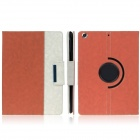 ENKAY ENK-3155 360 Degree Rotation Protective PU Leather Case Stand for IPAD AIR - Orange + White