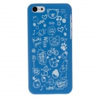 Cute Faerie Series Stylish Protective Plastic Back Case for IPHONE 5C - Blue + White