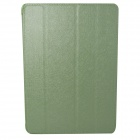 Hair Silk Stylish Protective PU Leather Case Cover Stand for IPAD AIR - Green