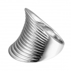 EQute Fashion Women's Finger Ring - Silver (Size 8)