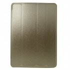 Hair Silk Stylish Protective PU Leather Case Cover Stand for IPAD AIR - Golden