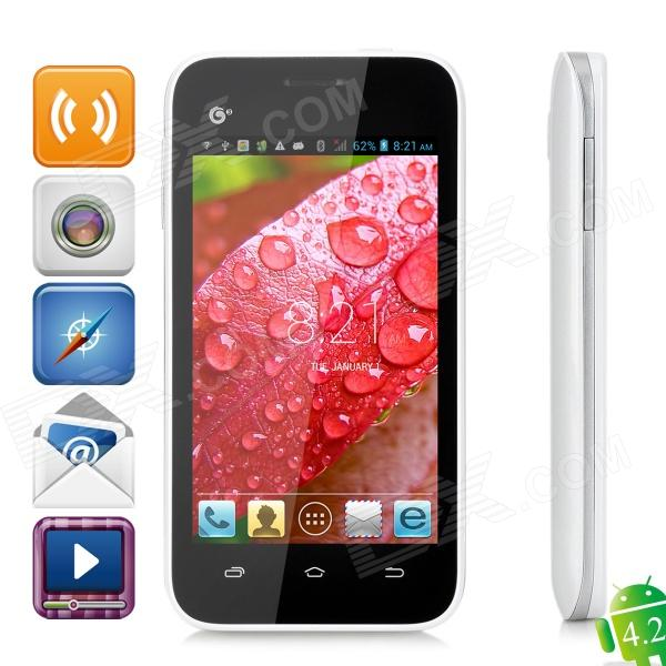 "Callbal T61 Dual-core MT6572 Android 4.2 GSM Bar Phone w/ 4.0"" Screen, FM, WiFi - White"