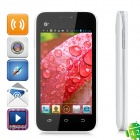 "Callbal T61 Dual Core MT6572 Android 4.2 GSM-Telefon Bar w / 4,0 ""Screen, FM, WiFi - Weiss"