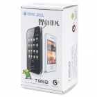 "T858 Ultra-thin Android 2.3 3G GSM Bar Phone w/ 3.5"" Screen, Dual-SIM, Wi-Fi– White"