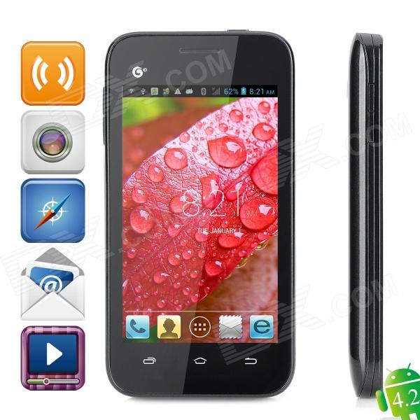 "Callbal T61 Dual-core MT6572 Android 4.2 GSM Bar Phone w/ 4.0"" Screen, FM, Wi-Fi - Black Grey"