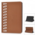 PU + PC Flip Open Case w/ Stand / Card Slots for IPAD MINI / Retina IPAD MINI - Golden + White