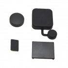 BZ119 4-in-1 Silicone Camera Lens + Interface + Housing + Battery Cap Set for GoPro Hero3+ - Black