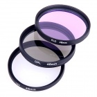 Universal 46mm UV + CPL + FLD Lens Filter for DSLR Camera - Black