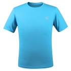 LANGZU YOUDANG 2170 Men's Outdoor Sports Quick-Dry Short-sleeved T-shirt - Sapphire Blue (XXL)